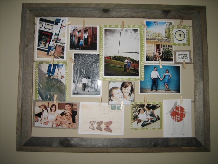 Ten June: DIY Wire + Clothespin Picture Frame