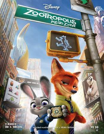 Poster Of Zootopia 2016 English 720p HDTS Free Download Watch Online Worldfree4u