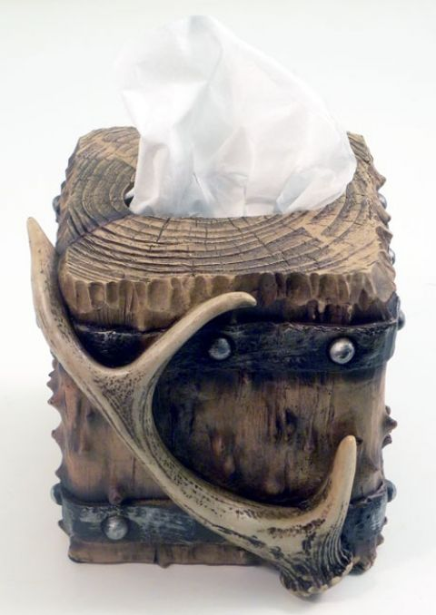 Faux Wood and Antler Tissue Box CoverFor $24.99