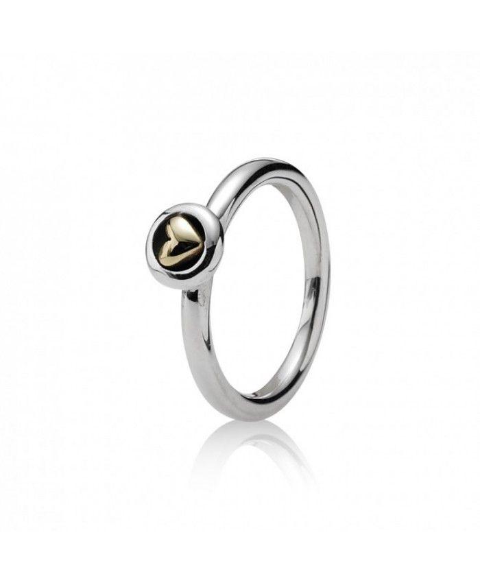 PANDORA 190128 Heart Stacking Ring