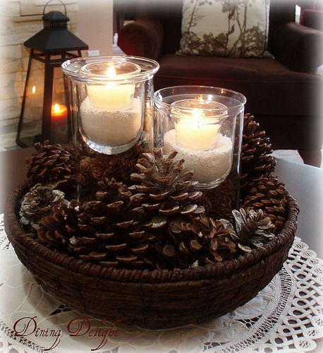 After taking down the Christmas decor earlier this month, I went witha more neutral look for the living room in hopes of creating a wint...