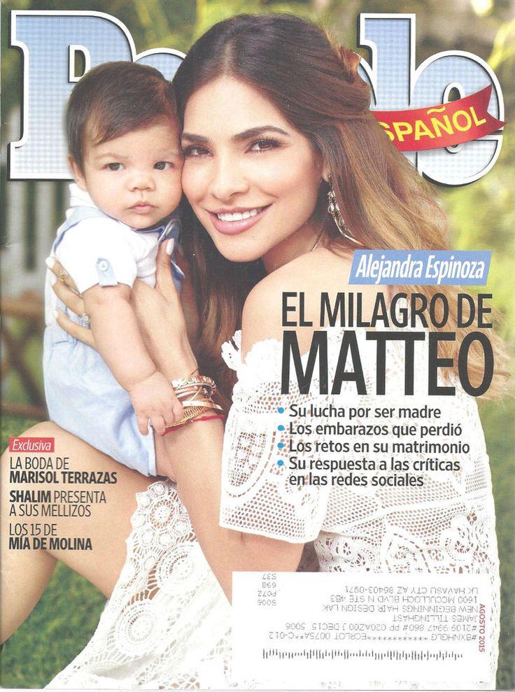 People Magazine Spanish Language Alejandra Espinoza Espanol August, 2015