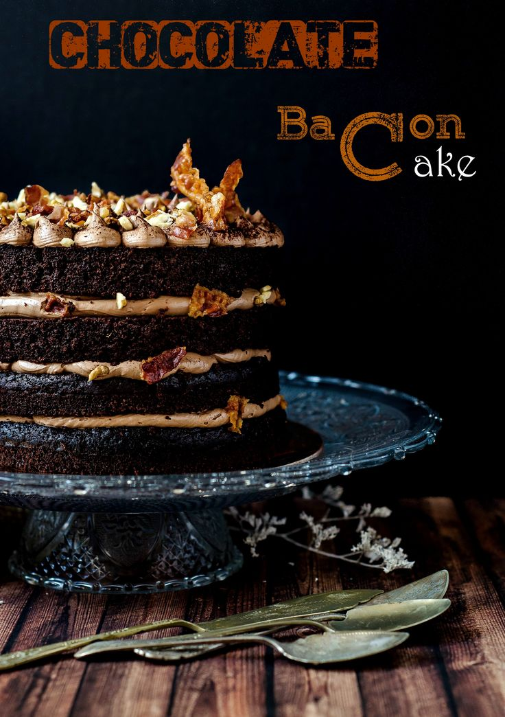Chocolate Bacon Cake - a showostopper! #cakes #desserts #chocolate #pastry #pastryworkshop #pastrychef www. pastry-workshop.com