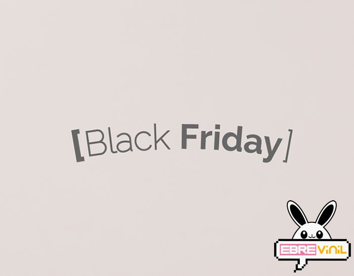 Vinilo tiendas y comercios especial escaparates Black Friday