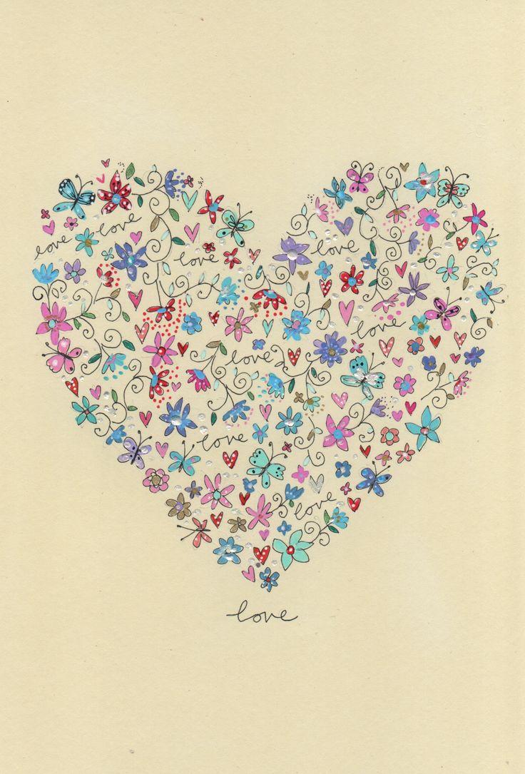 love heart III pen & ink on moleskine paper