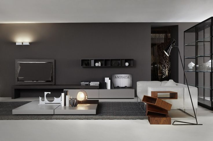 LOW TV CABINET MODERN FLAG MODERN COLLECTION BY PORRO | DESIGN PIERO LISSONI