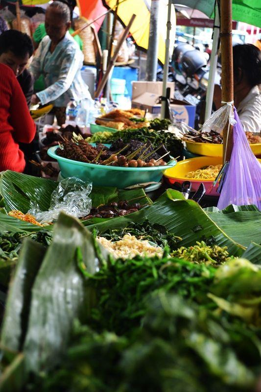 Nasi pecel Pasar Beringharjo, Yogyakarta, Indonesia.