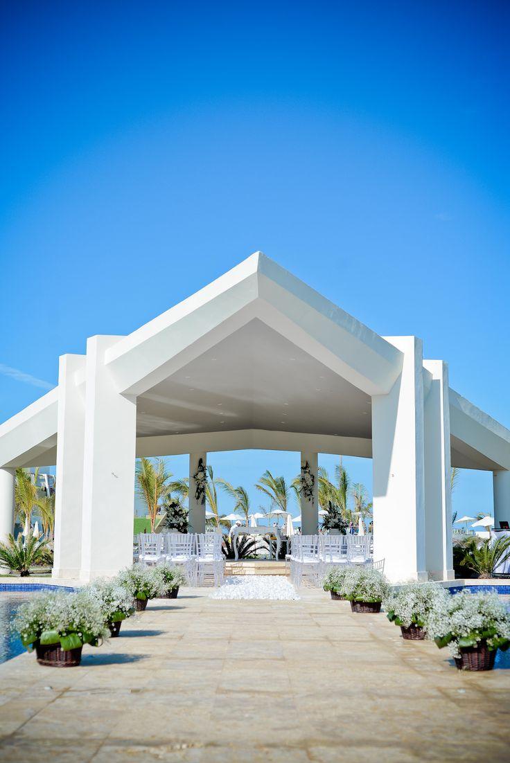 the wedding gazebo at now onyx punta cana we love how modern yet tropical