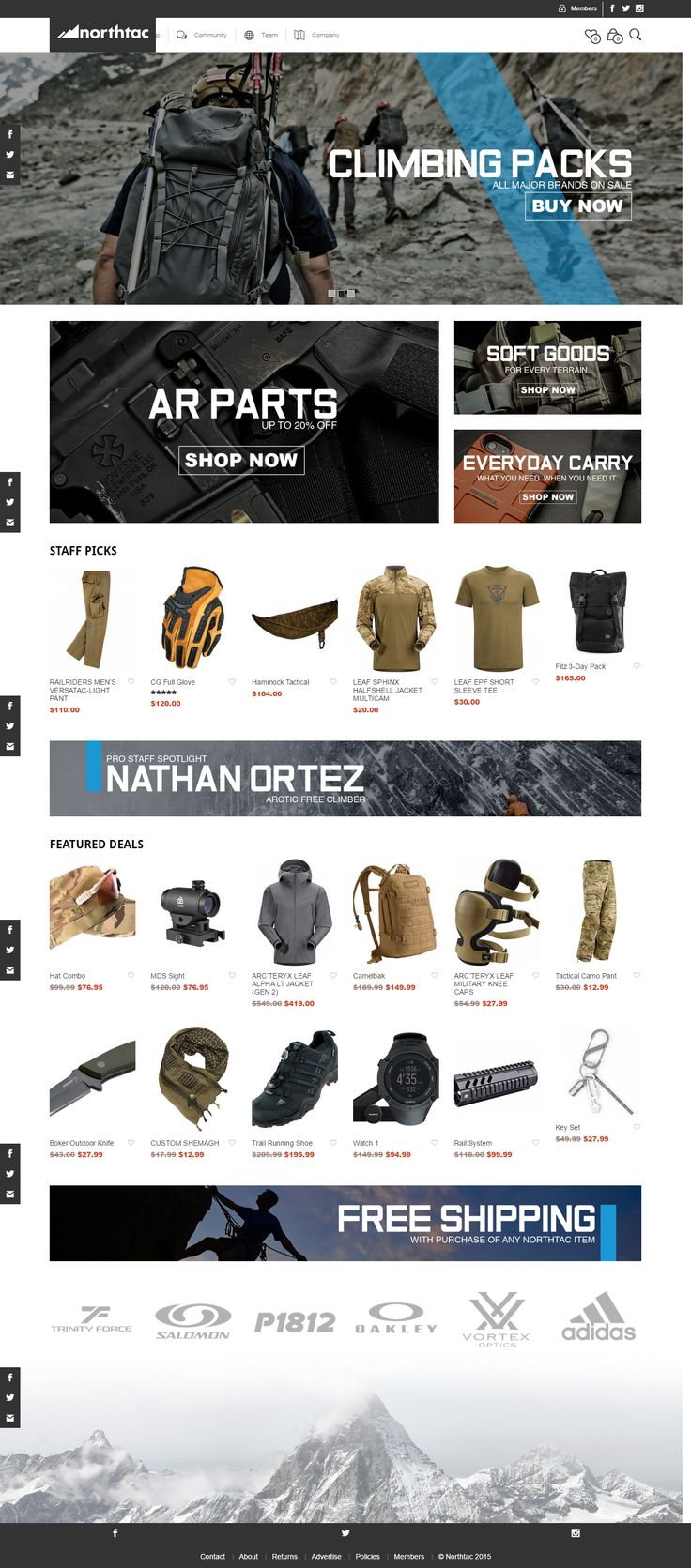 northtac.com is powered by Mr Tailor WP theme. http://themeforest.net/item/mr-tailor-responsive-woocommerce-theme/7292110?&utm_source=pinterest.com&utm_medium=social&utm_content=northac&utm_campaign=showcase #adventures #wordpress #survival #climbingpacks #ecommerce