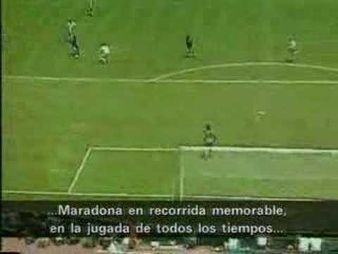 Maradona gol de Argentina 2 - 0 Inglaterra 1/4 Mundial 86