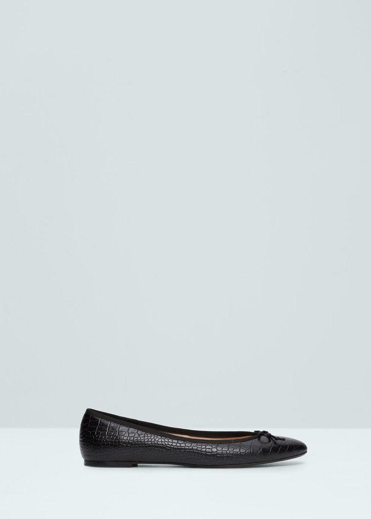 Bailarinas lazo - Zapatos de Mujer   MANGO España