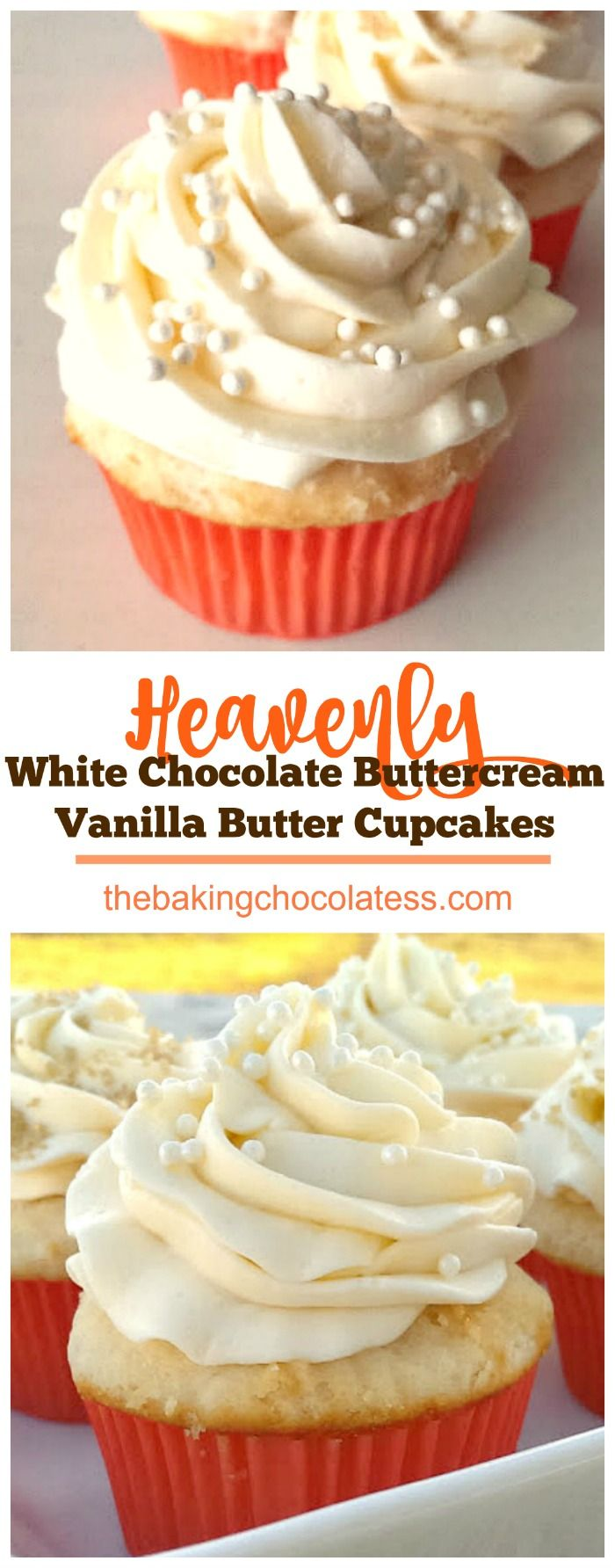 Be prepared to be dazzled!  Rich, Vanilla Butter Cake meets decadent White Chocolate Buttercream Frosting!  Heavenly! via @https://www.pinterest.com/BaknChocolaTess/