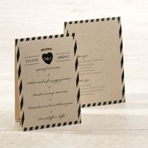 Menu staander eco zwarte strepen #huwelijk #menu #eco #zwartestrepen #hartje #origineel #menustaander