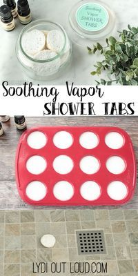 These DIY shower soothers are perfect relief for this time of year - colds and allergies galore!
