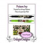 Bead Pattern Peyote(Pen Wrap/Cover)-Poison Ivy