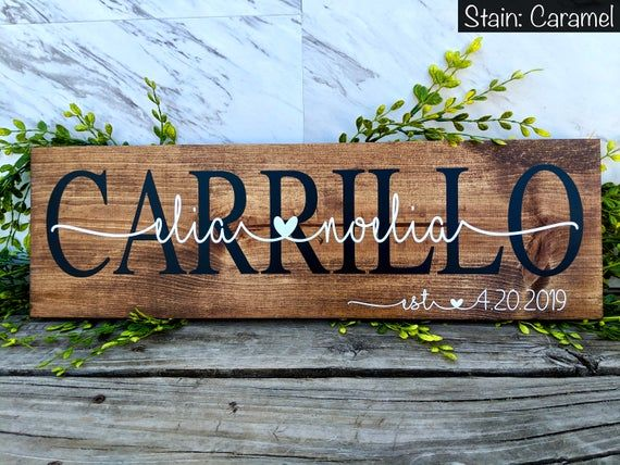 Bridal Shower Gift Personalized Wedding Gift Last Name Sign Established Sign Personalized Wood Signs Family Name Sign Custom Wood Sign Custom Wedding Gifts Personalized Wedding Gifts Wedding Gifts For Couples