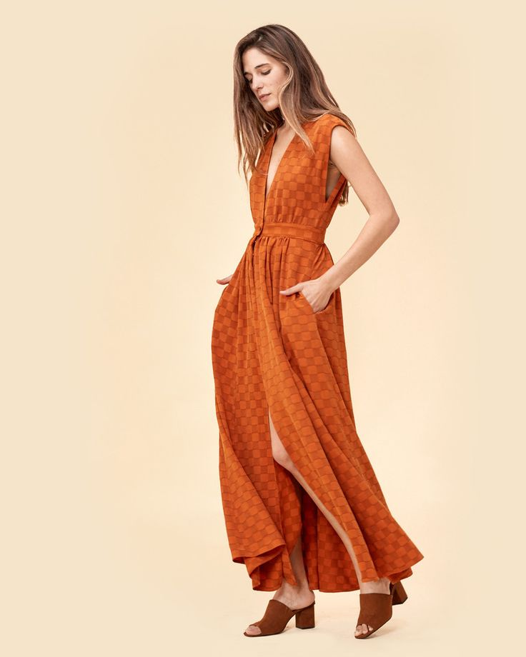 The Rosemary Dress | Burnt Orange