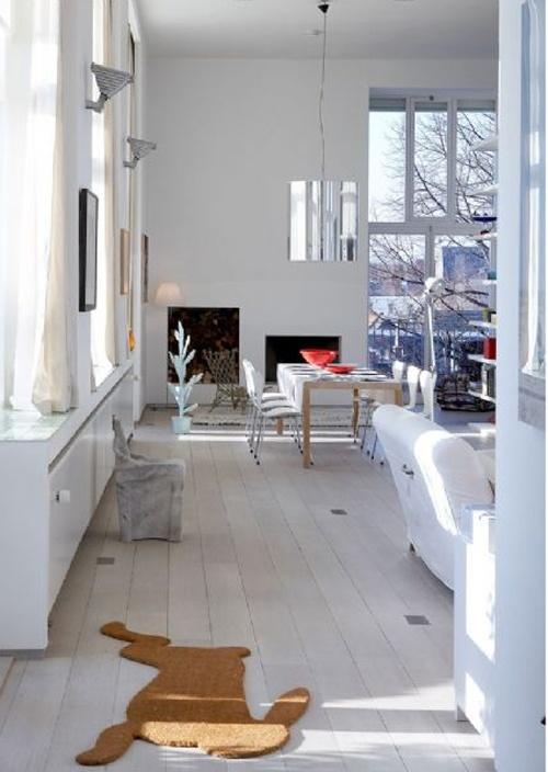 Like the white floor
