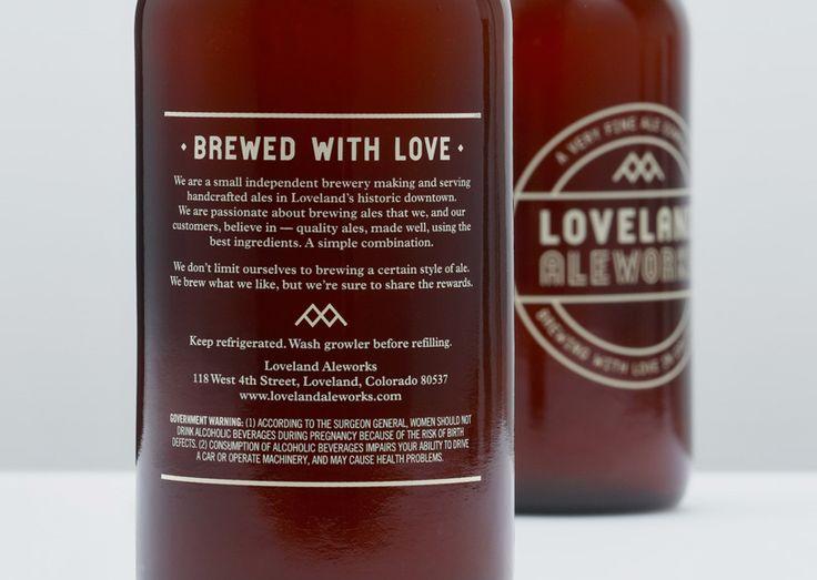 Simplicity. Loveland Ale Works Packaging.