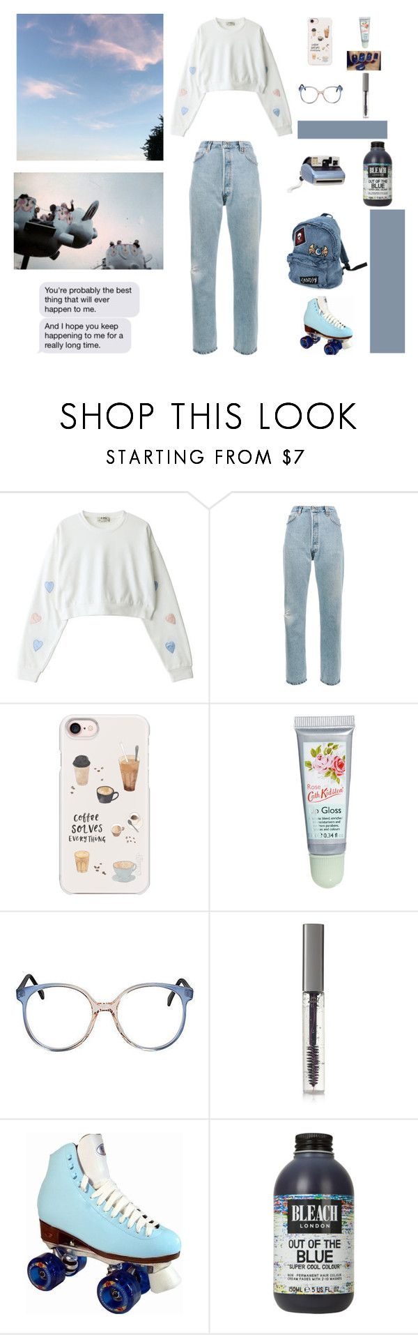"""""""80's baby"""" by verabisio ❤ liked on Polyvore featuring RE/DONE, Casetify, Cath Kidston, BBrowBar and Polaroid"""