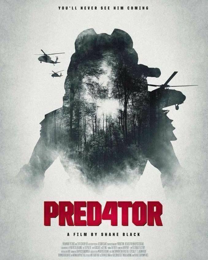"""""""Première affiche du nouveau Predator par Shane Black le 15 août 2018"""