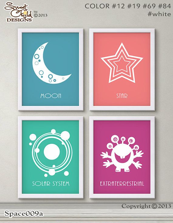 Outer Space Nursery Decor Baby Girl by SweetChildDesignsFL on Etsy