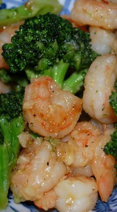 Buttered-Garlic Shrimp & Broccoli