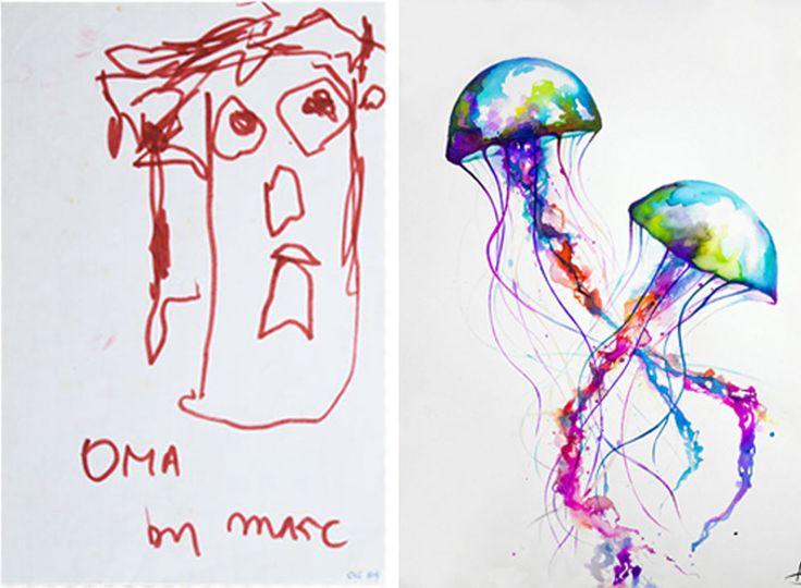 Художниками не рождаются, ими становятся. Увидев эволюцию творчества этого гонконгского дизайнера, вы в этом убедитесь и, возможно, вдохновитесь рисовать.
