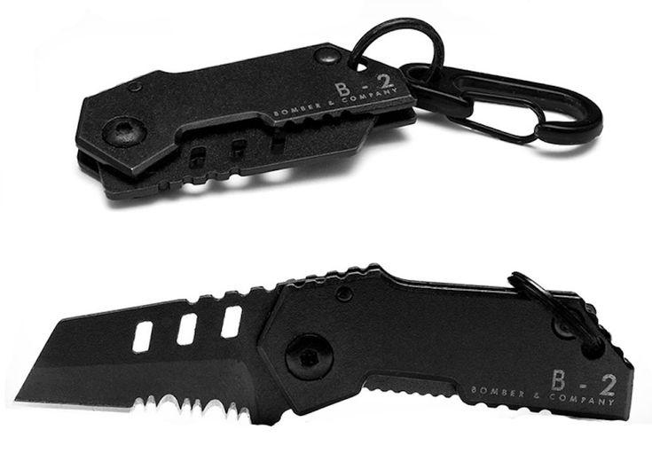 B-2 Nano Blade | World's Smallest Tactical Pocket Knife EDC Multitool by Bomber & Company