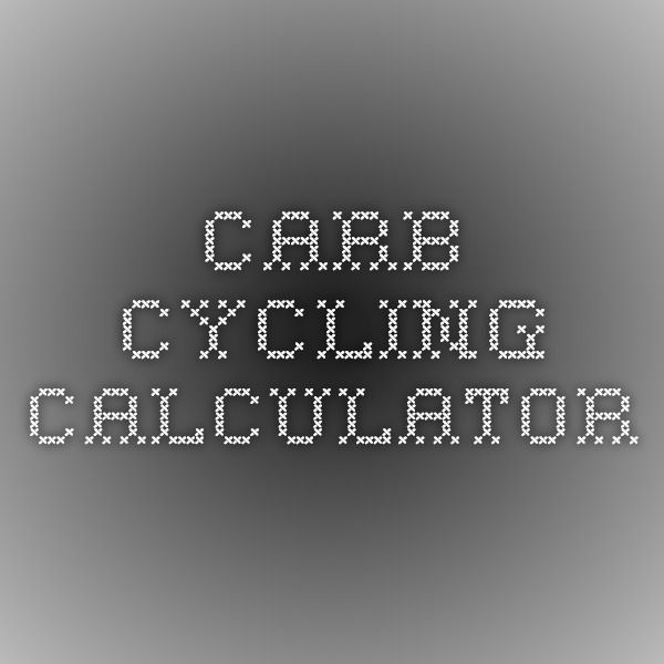 Carb Cycling Calculator