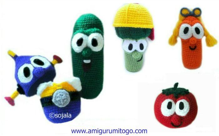 Best veggie tales images on pinterest crochet food