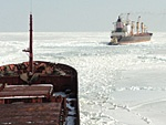 Dozens of ships caught by the ice in Sea of Azov