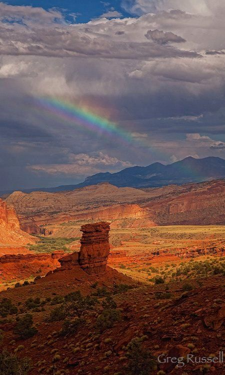A rainbow over the Fruita Oasis ~ Capitol Reef National Park, Utah, U.S | Flickr - Photo by alpenglowimages