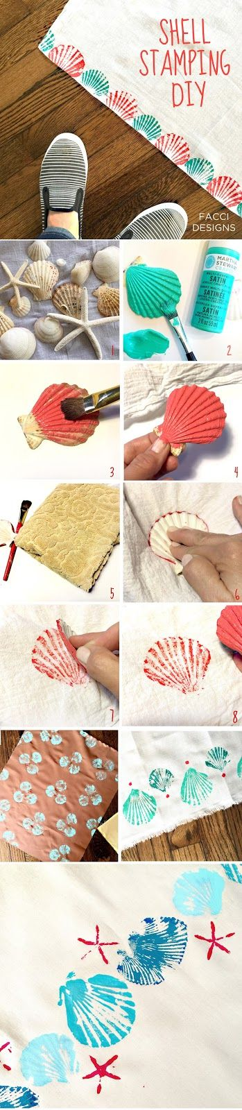 Learn how to stamp with shells with Facci Designs