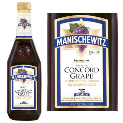 Manischewitz Concord Grape Wine Kosher 750ml