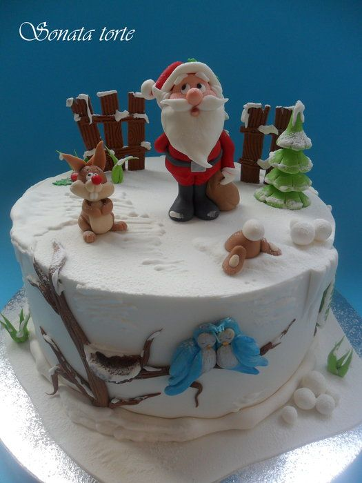 New Year's cake - by sonatatorte @ CakesDecor.com - cake decorating website
