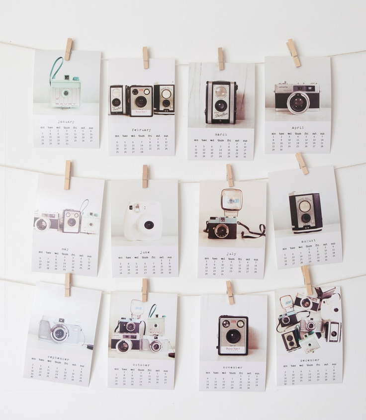 The Memory Makers - 2013 4x6 photo calendar - featuring vintage and quirky cameras. $19.00, via Etsy.