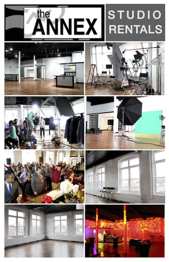 the ANNEX Studio is a professional, private studio and production space for rent at hourly, half-day or full-day rates. A customizable studio for your clients needs.