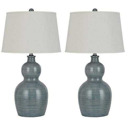 Orvis Stone Ceramic Table Lamp Set of 2