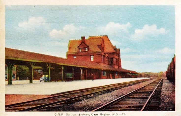 CNR Railway Station_Sydney_Cape Breton Island_Nova Scotia | Photographs And Memories of Cape Breton_Cape Breton Nova Scotia