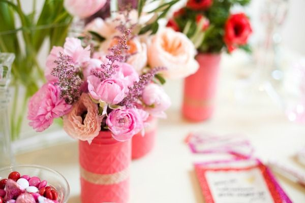 Glitter Guide: Valentine's Day Girls' Night In photographed by Michelle Drewes: Valentine'S Day, Ideas, Masons, Valentine'S Mason, Valentine'S S, Valentines Day, Mason Jars Crafts, Glitter Guide, Consciousness Culture