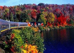The Algoma Central Railroad/Railway's Agawa Canyon trip, which runs north from Sault Ste Marie in northern Ontario, is another excellent way to see the colours at the end of September / beginning of October. Consult the Weather Network's Fall Colour Report for more information on fall foliage in Ontario.