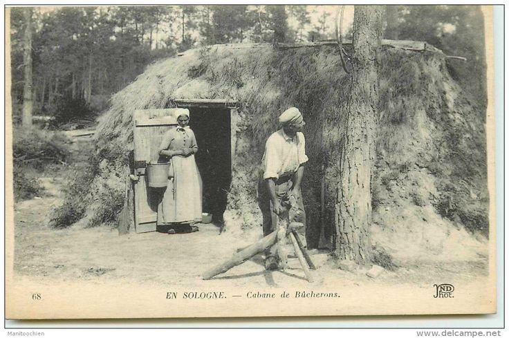 DEP 41 EN SOLOGNE CABANE DE BUCHERON Mr et Mme CHARTRAIN
