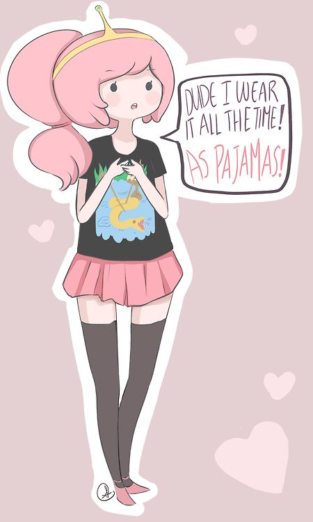 Princess Bubblegum from Adventure Time :3 I wear it all the time! As pajamas :3333