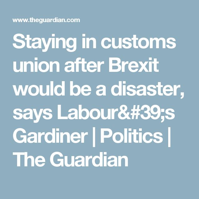 Staying in customs union after Brexit would be a disaster, says Labour's Gardiner | Politics | The Guardian
