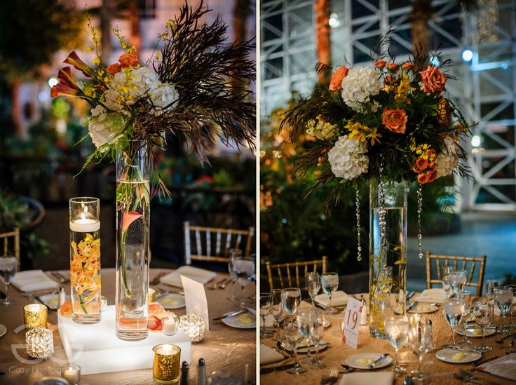 Gorgeous Autumn Themed Fl Centerpieces At Crystal Gardens Wedding Reception By Stems Chicago Http