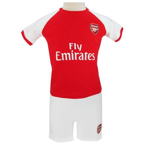 ARSENAL FC Shirt and Short Set to fit a 18/23 month baby. Main 100% Cotton, Rib 96% Cotton, 4% Elastane. Official Licensed Arsenal FC gift. FREE DELIVERY ON ALL OF OUR GIFTS