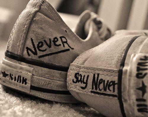 never say never converse all stars | all star, beautiful, converse, cute, fashion - image #123573 on Favim ...