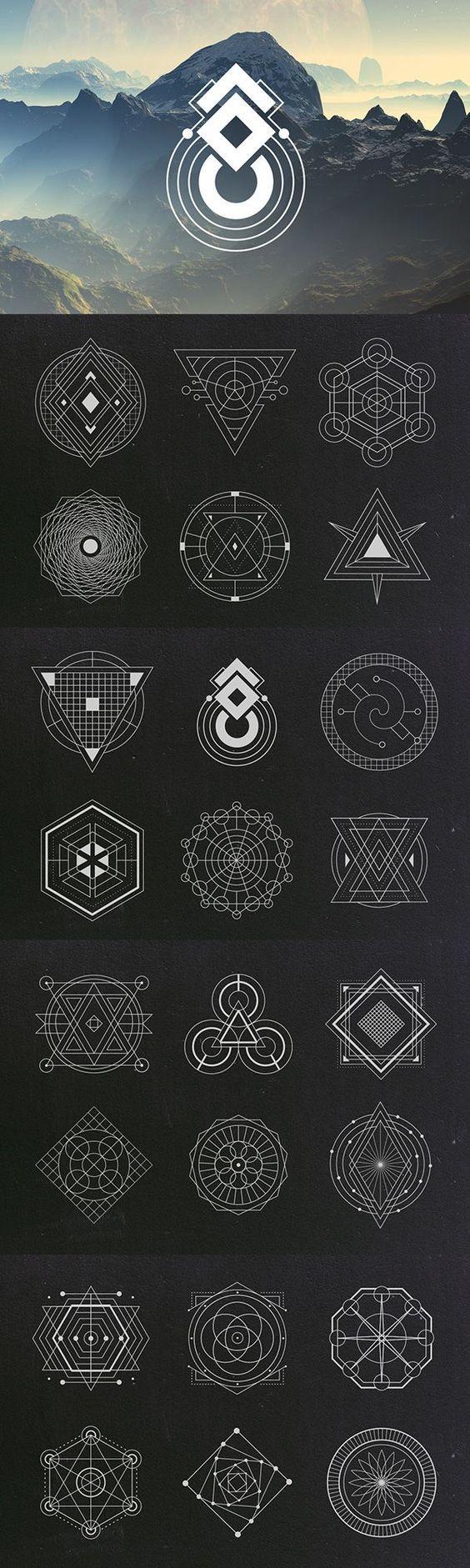 Sacred Geometry Vectors   Graphic Design Elements   Geometric Vector Clipart Images   Blog Graphics   Web Design   Branding Niche   Blogging   Business   Art: