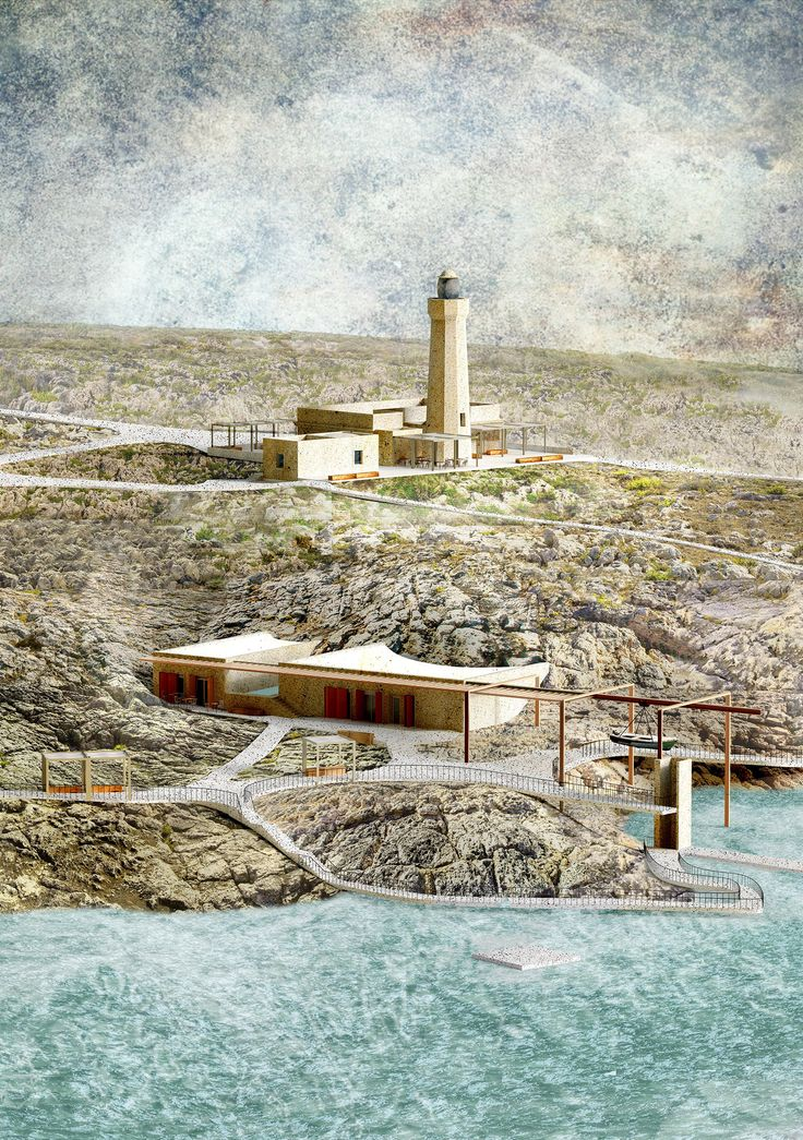 Lighthouse sea hotel. Siracusa. Young architects competition entry.